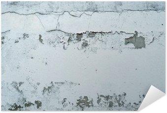Selbstklebendes Poster Abblätternde Farbe auf einer Steinmauer