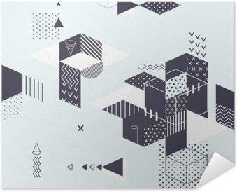 Selbstklebendes Poster Abstract modern geometrischen Hintergrund