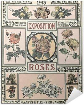 Selbstklebendes Poster Ausstellung von Roses