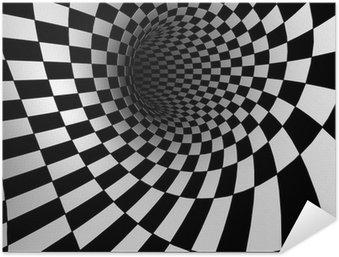 Selbstklebendes Poster Checkered Textur 3d Hintergrund