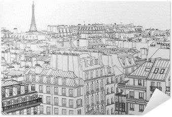 Selbstklebendes Poster Dächer in Paris