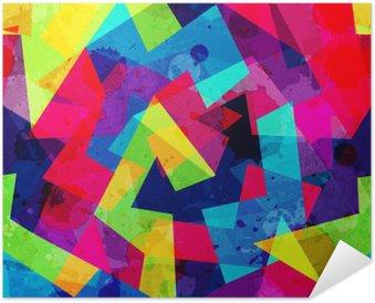 Selbstklebendes Poster Hellen geometrischen nahtlose Muster mit Grunge-Effekt