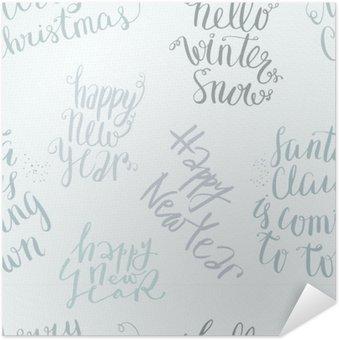 Selbstklebendes Poster Nahtlose Vektor-Schriftzug-Muster