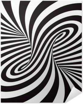 Selbstklebendes Poster Optical Art