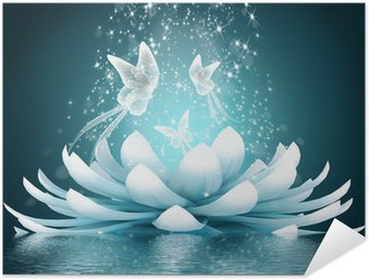 Selbstklebendes Poster Schöne Lotusblüte