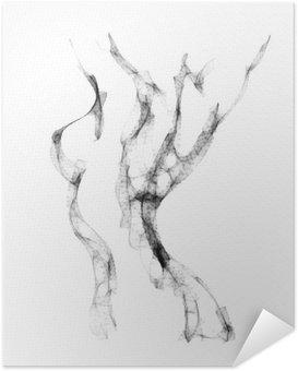 Selbstklebendes Poster Silhouette der schönen nackten Frau Vektor-Illustration