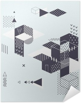 Abstract modern geometric background Self-Adhesive Poster