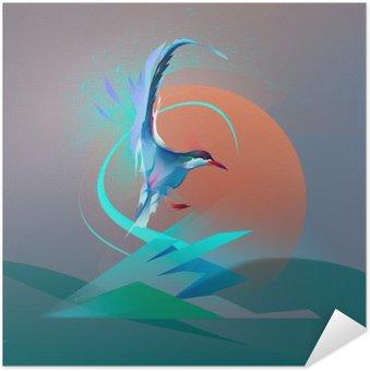 Bird seagull tern Self-Adhesive Poster