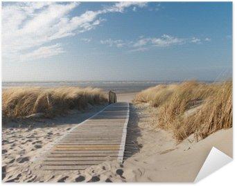 Self-Adhesive Poster Nordsee Strand auf Langeoog