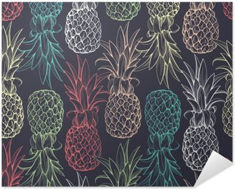 Pineapples seamless pattern Self-Adhesive Poster