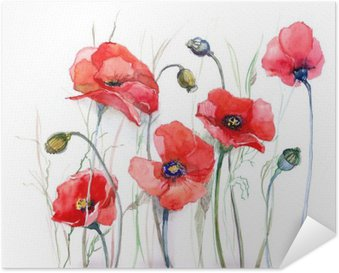 poppy Self-Adhesive Poster