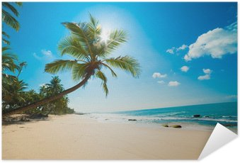 Tropical beach in the sun Self-Adhesive Poster