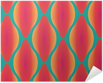 vector colorful abstract contemporary seamless geometric pattern Self-Adhesive Poster