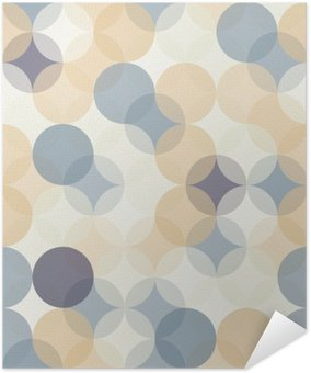 Vector modern seamless colorful geometry pattern circles , color abstract geometric background,wallpaper print, retro texture, hipster fashion design, Self-Adhesive Poster