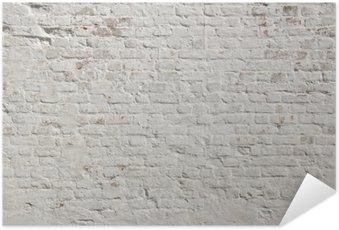 White grunge brick wall background Self-Adhesive Poster