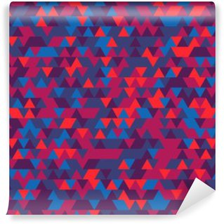 Self-Adhesive Wall Mural Abstract background of the triangles. The gradation of Violet. Violet hues.