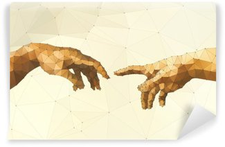 Abstract God's hand vector illustration Self-Adhesive Wall Mural