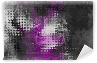 Abstract grunge background with grey, white and purple Self-Adhesive Wall Mural