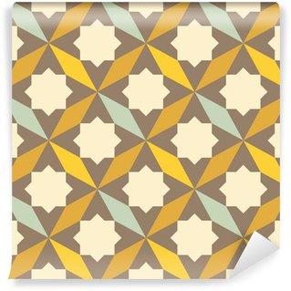 abstract retro geometric pattern Self-Adhesive Wall Mural