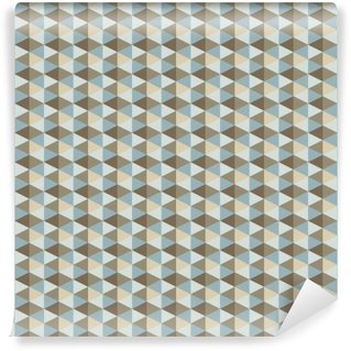 Self-Adhesive Wall Mural abstract retro geometric pattern