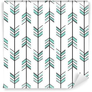 arrow seamless vector pattern background hipster illustration Self-Adhesive Wall Mural