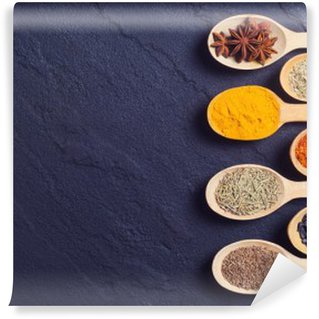 assortment of indian spices Self-Adhesive Wall Mural