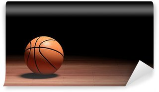 Basketball court floor with ball wall mural vinyl for Basketball court wall mural