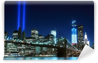Brooklyn Brigde and the Towers of Lights , New York City Self-Adhesive Wall Mural