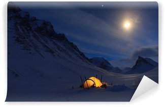 Camping in the mountains Self-Adhesive Wall Mural