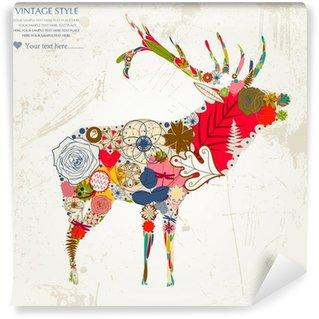 Self-Adhesive Wall Mural deer