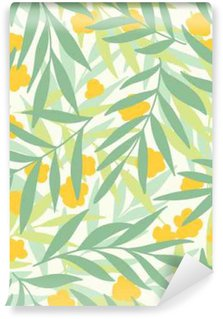 Self-Adhesive Wall Mural Exotic leaves, rainforest.