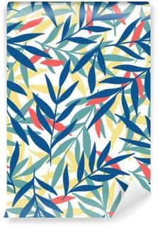 Exotic leaves, rainforest. Self-Adhesive Wall Mural