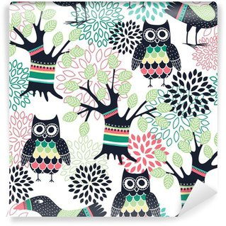 Self-Adhesive Wall Mural Forest seamless pattern
