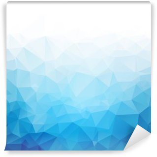 Self-Adhesive Wall Mural Geometric blue ice texture background