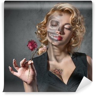 Self-Adhesive Wall Mural Halloween costume - portrait of dead actress
