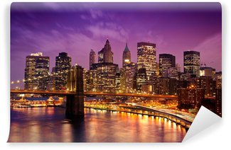New York Manhattan Pont de Brooklyn Self-Adhesive Wall Mural