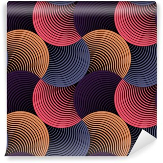 Ornate Geometric Petals Grid, Abstract Vector Seamless Pattern Self-Adhesive Wall Mural