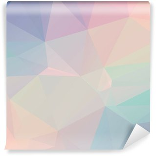Self-Adhesive Wall Mural Pastel Polygon Geometric