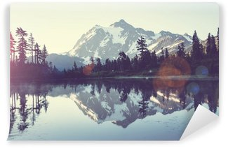 Picturesque lake Self-Adhesive Wall Mural