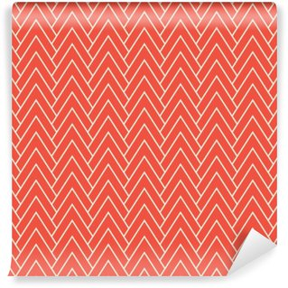 Self-Adhesive Wall Mural red chevron pattern