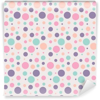 Self-Adhesive Wall Mural seamless dots pattern