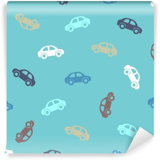Self-Adhesive Wall Mural Seamless pattern - cars