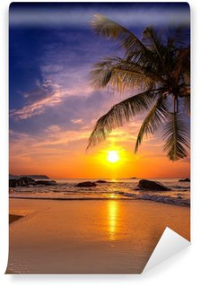Self-Adhesive Wall Mural Sunset over the sea. Province Khao Lak in Thailand