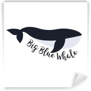 Vector illustration of whale. Symbol design Self-Adhesive Wall Mural