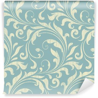 Vintage Damask Seamless Pattern Self-Adhesive Wall Mural