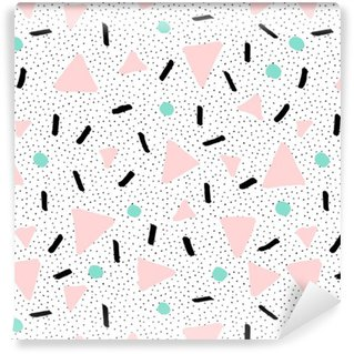 Hand Drawn Retro Seamless Pattern Self-Adhesive Wallpaper