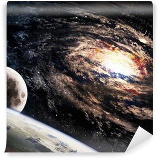 Utroligt smuk spiral galakse et eller andet sted i dybt rum Selvklæbende Fototapet