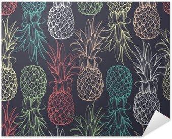 Ananas sømløse mønster Selvklæbende Plakat