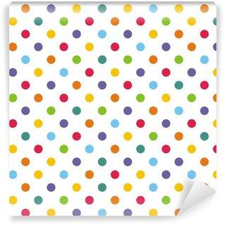 Seamless vektor mønster eller bakgrunn med fargerike polka prikker