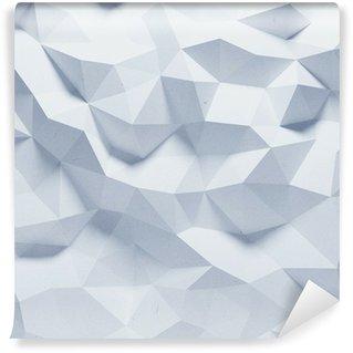 Självhäftande Fototapet Abstrakt facetterad geometrisk papper bakgrund